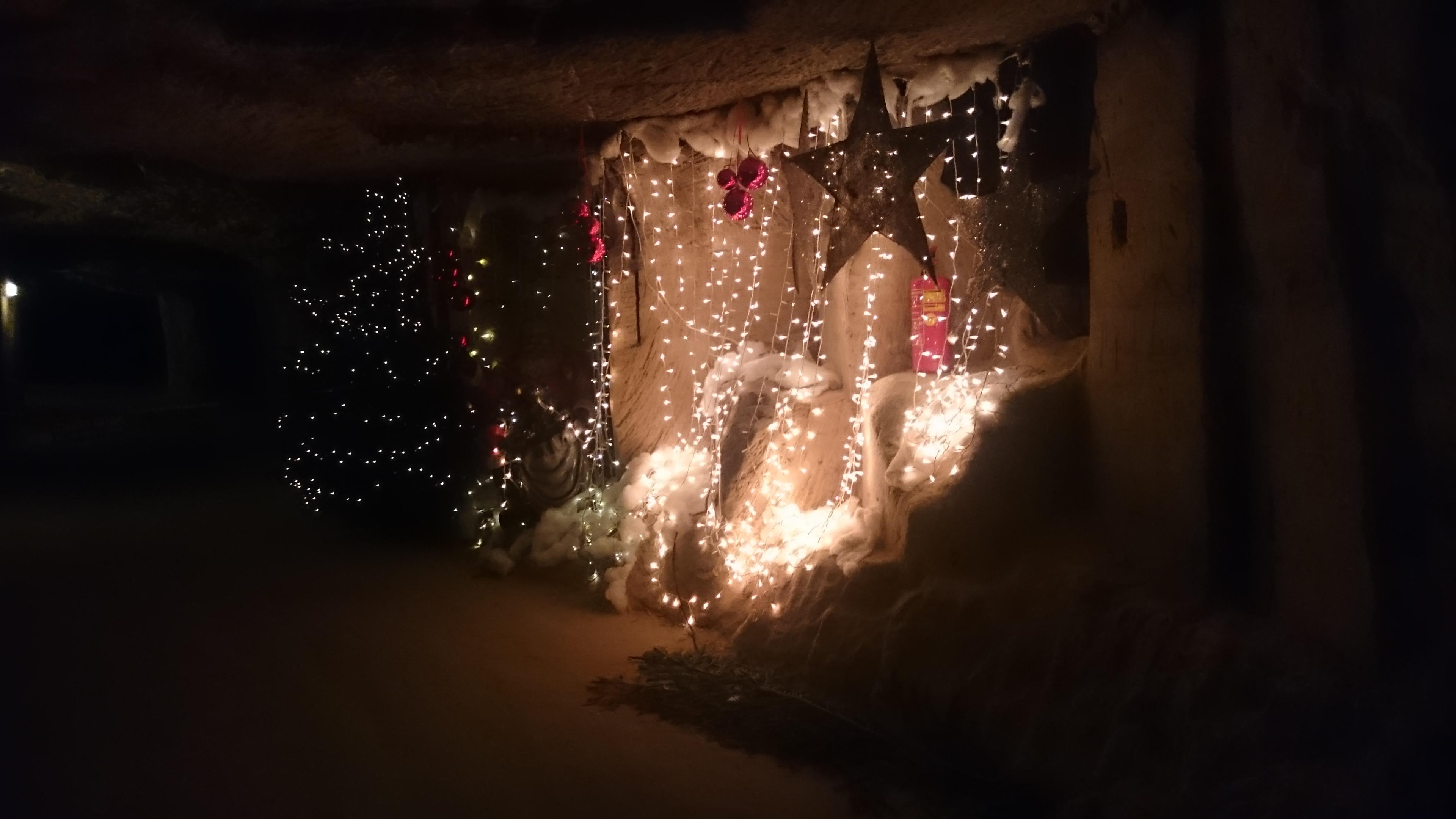 Unterirdischer Weihnachtsmarkt in Valkenburg
