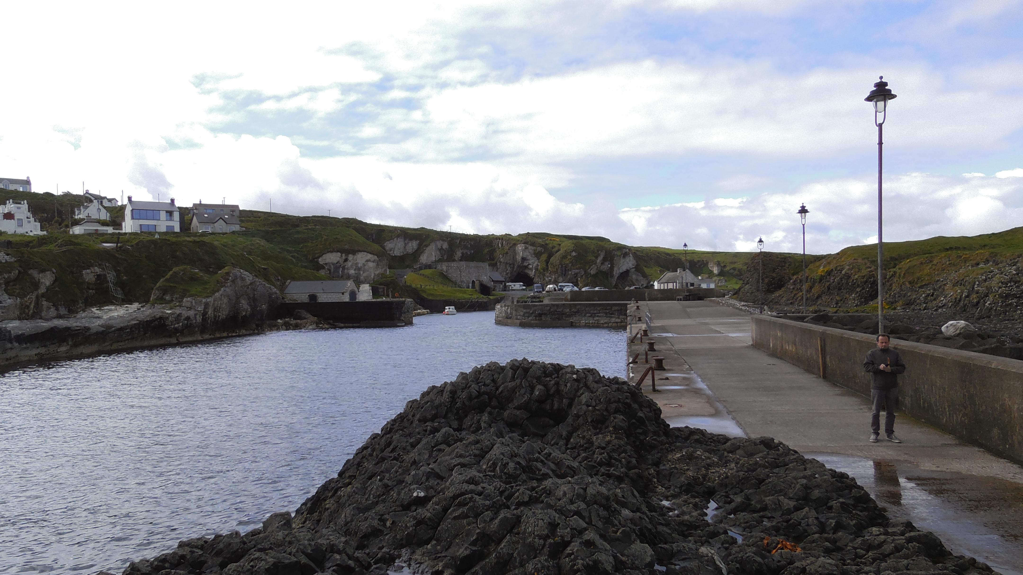 Blick in Ballintoy Harbour