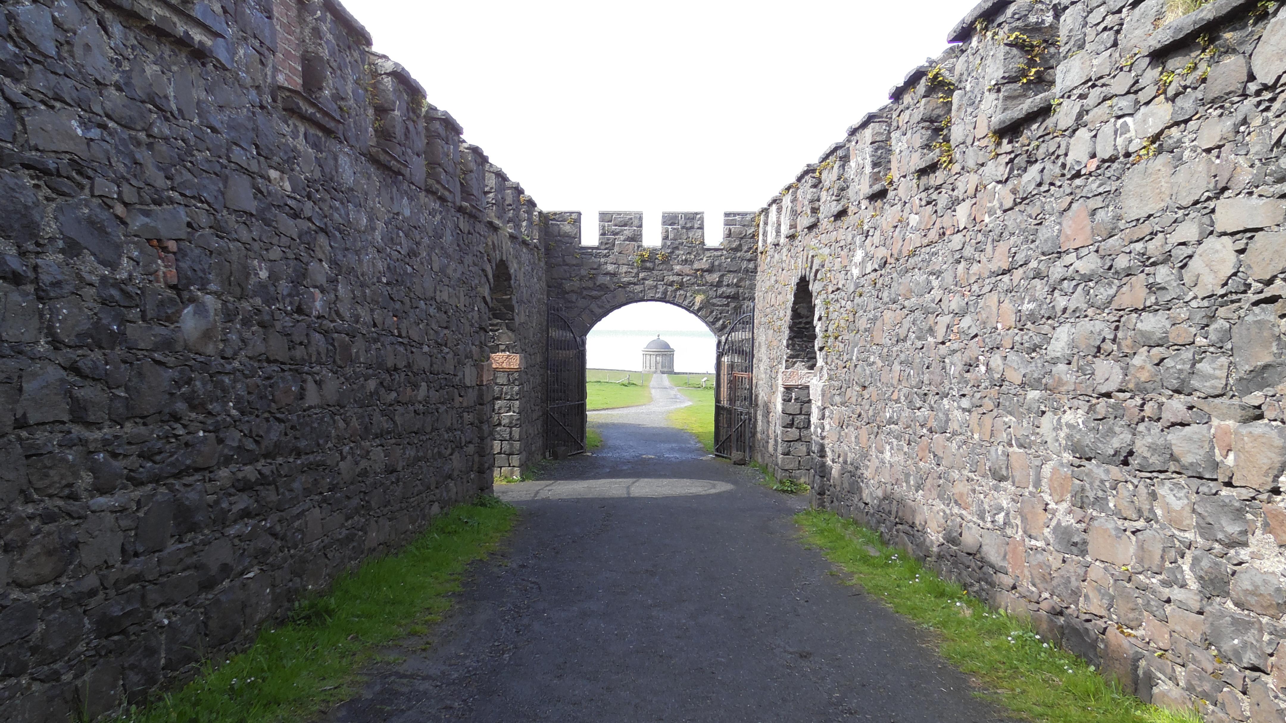 Mussenden Tempel aus der Burg