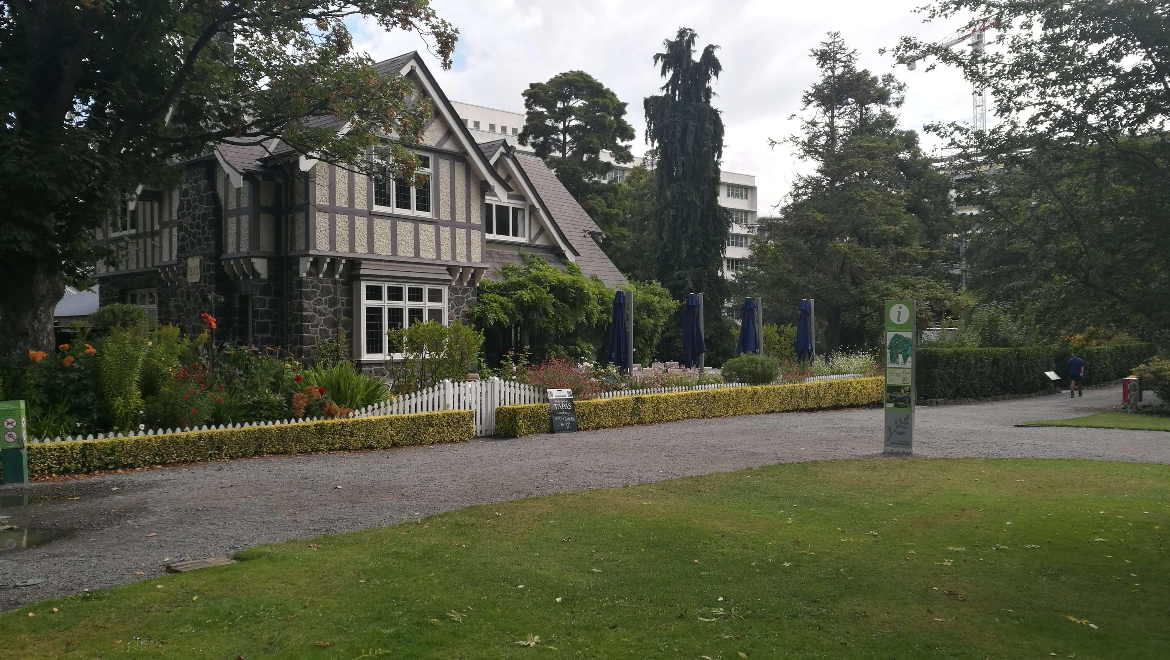 Restaurant im botanischen Garten