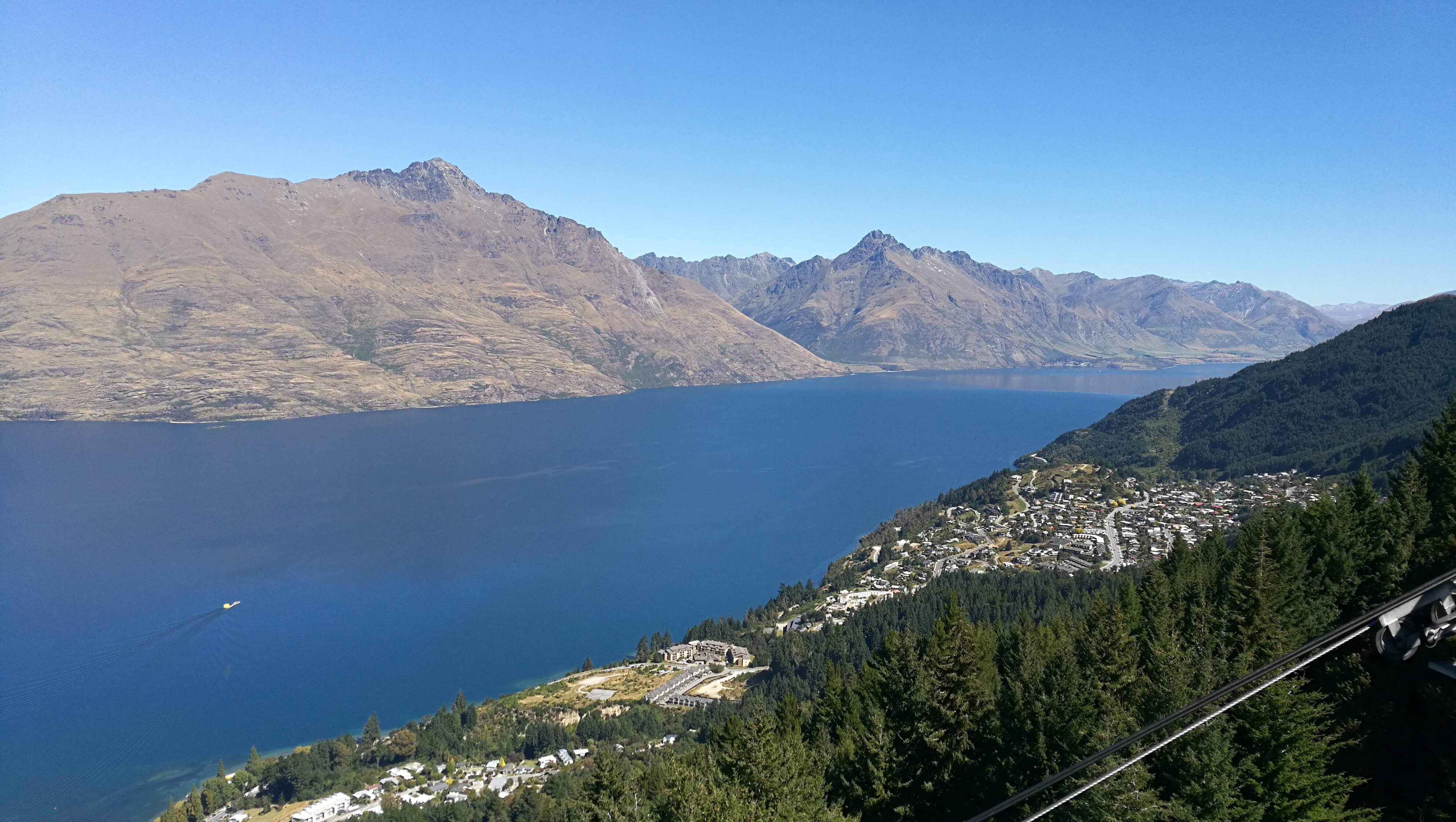 Blick auf Lake Wakatipu