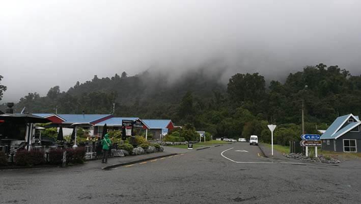 Franz Josef bei Regen